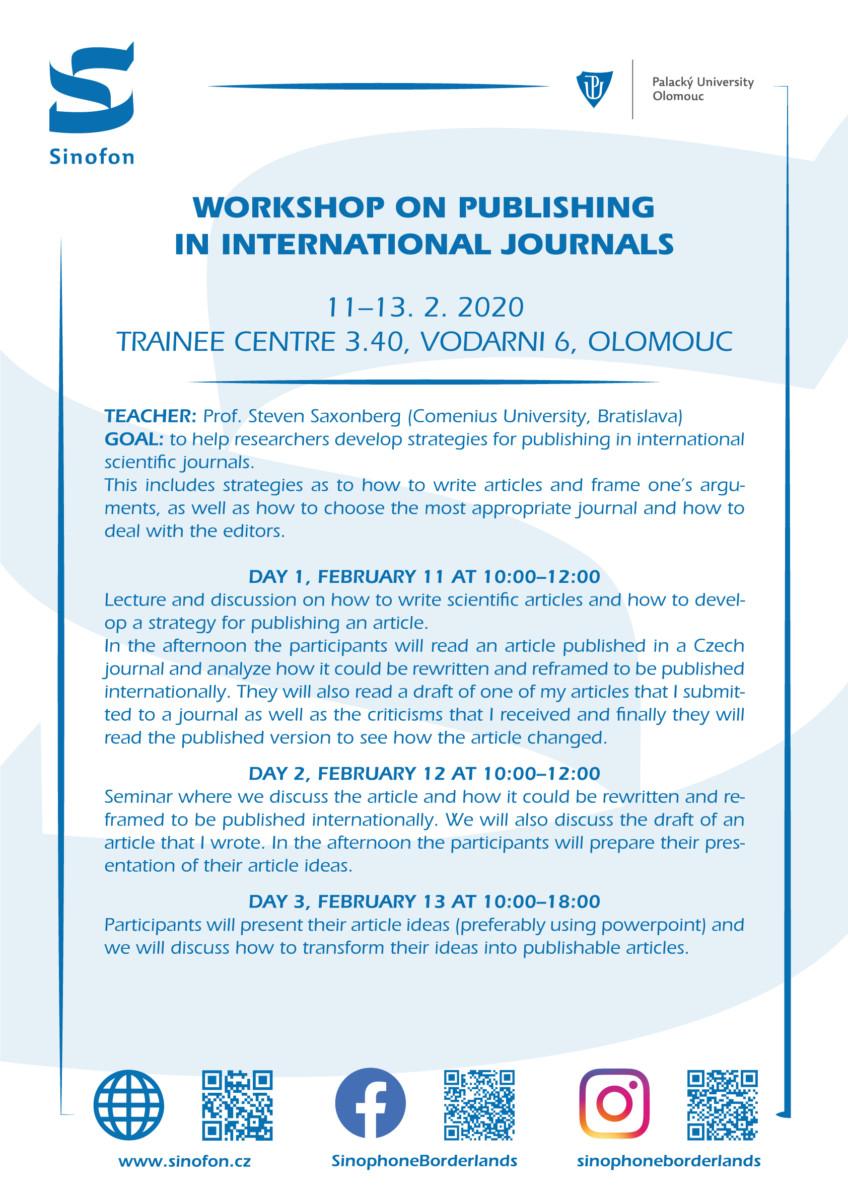 Workshop on publishing in international journals